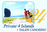 Private 4 Island and Talane Canoeing by JC Tour