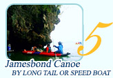 Jamesbond Sightseeing Canoe by Longtail or Speed Boat