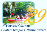 3 Caves Canoe Safari Temple and Nature Stream