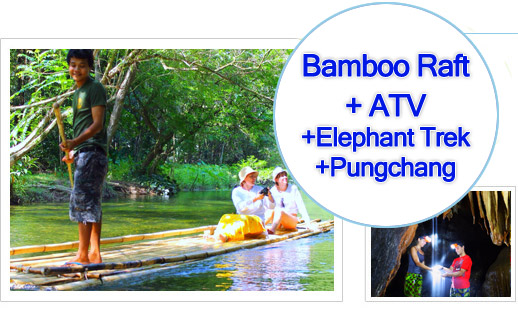 Bamboo Raft - ATV - Elephant Trek and Punchang Cave