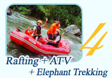 Rafting ATV and Elephant Trekking